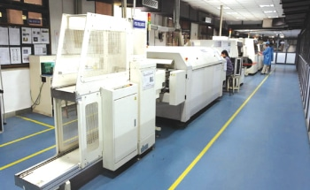Elin's SMT facility for manufacturing LED lighting products