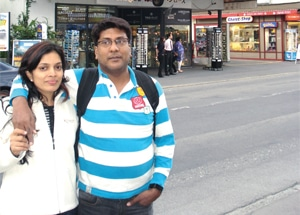 Narendra Bansal on a Holiday with his wife Alpa